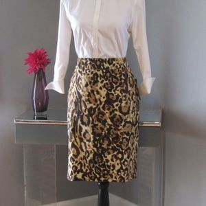 NEW Merona Brown Animal Print Skirt Size 8